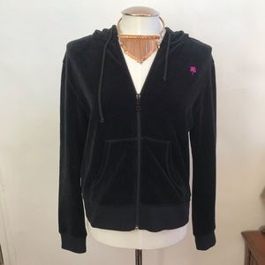 Lilly Pulitzer Black Zip Up Hooded Jacket